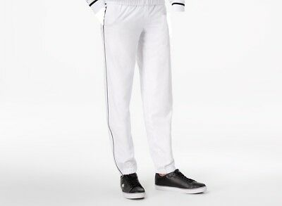 7a4cd9346d77ce $229 Lacoste Men White Sport Taffeta Gym Sweatpants Novak Track Pants Size M