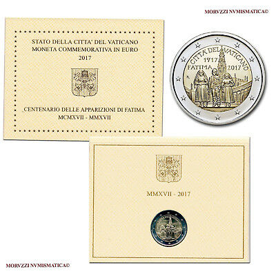 MORUZZI - Vatican 2 EURO commémorative 2017 FDC / BU Apparition de Fatima