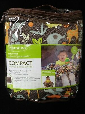 Infantino Compact Travel Necessities 2 in 1 Baby Cart Animals Zoo Cover - New