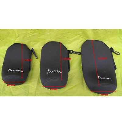 Sports Water Bottle Cover Case Bag Holder Neoprene Insulaed Sleeve Bag Black