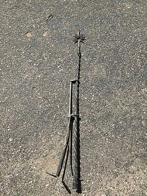 Miller Twisted Brass Sunburst Lightening Rod & 25' Of Braided Copper Ground Wire