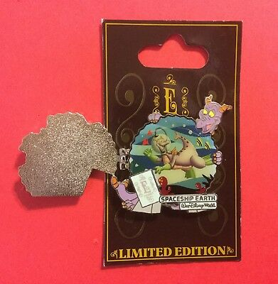 Wdw 2009 E-Ticket Attractions - Spaceship Earth Figment  Le New On Original Card