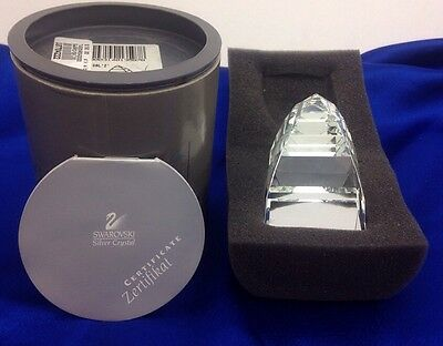 Swarovski Authentic Crystal Pyramid Paperweight #7450Nr040000 Nib W/coa Reg $150