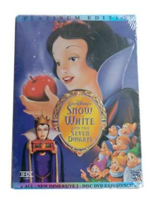 Disney Snow White and the Seven Dwarfs Platinum Edition 2 Disc DVD NEW Sealed