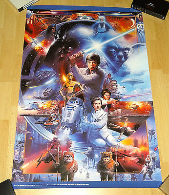 STAR WARS 20th Anniversary Poster - exclusive - limited edition - rare