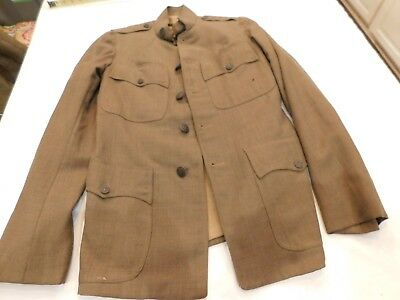 WWI US Army Tunic US Insignia only all Buttons in Place Really Nice No Marking