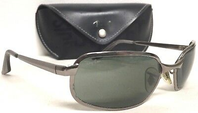 b5afa1f84e Vintage B l Ray Ban W2642 Silver Chrome Sidestreet Wrap Sunglasses With  Case Guc