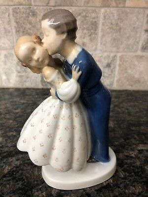 """Bing and Grondahl """"First Kiss"""" No. 2162    7.5'' Tall"""