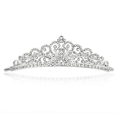 Bridal Rhinestones Crystal Prom Wedding Floral Crown Tiara 81018