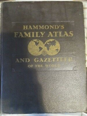 Hammond's Family Atlas and Gazetteer of the World (Hardcover, 1944)