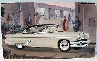 1955 Lincoln Coupe 2 Dr HT Postcard