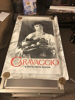 CARAVAGGIO MOVIE POSTER Derek Jarman's Gay Themed Art Film 1sht Rolled 1986