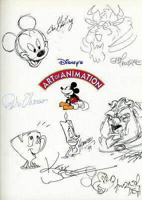 Disney. ART OF ANIMATION. Signed by many! First Edition. Bob Thomas. 1991