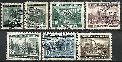 Germany (Third Reich) 1940 Used - Bohemia Moravia Defins. Lindenzweig Landscapes