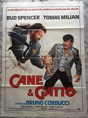 Poster 2 Sheet Cane Gatto Bud Spencer Tomas Milian Corbucci Og