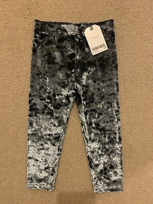 Next Girls Crushed Velvet Leggings 12-18 Months BNWT