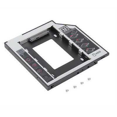9.5mm Universal SATA 2nd HDD SSD Hard Drive Caddy for CD/DVD-ROM Optical Bay AW