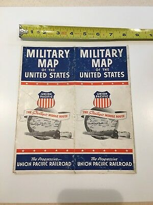 Military Map of the United States Union Pacific Railroad