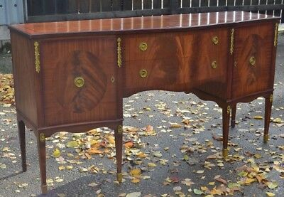 Large Mahogany Bowfront Sideboard Quality Antique Reproduction Dining to Paint?