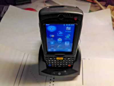 MOTOROLA SYMBOL MC75A HAND HELD COMPUTER & CHARGING STATION Bar Code Scanner