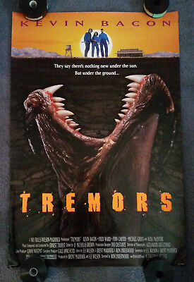 TREMORS 1989 27x40 ORIGINAL ROLLED Movie Poster DOUBLE SIDED Kevin Bacon