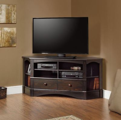 White Corner Tv Stand 60 Inch Tvs Entertainment Center Wood Storage