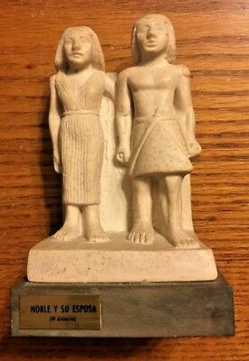 Ancient Egyptian Reproduction Noble And His Wife Statue Made In Spain