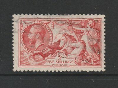 Gb Stamps Re-Engraved King George V 5/- Seahorse Fine Used From Collection