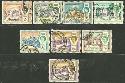 British Colonies, BERMUDA. Partial set to 5 shilling. USED. (see photo)