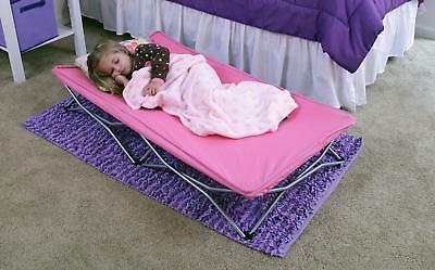 Kids Cot Portable Folding Bed Child Sleeping Outside Travel Guest Hotel Camp