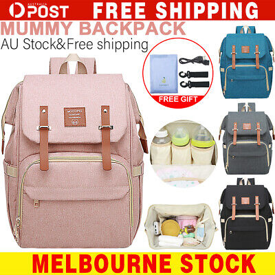 2019 Luxury Large Mummy Maternity Nappy Diaper Bag Baby Bag Travel Backpack AU