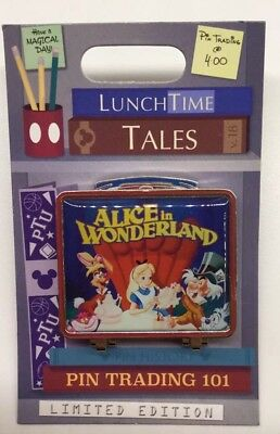 Disney Pin Alice In Wonderland Lunch Time Tales Alice Mad Hatter Cheshire Cat LE