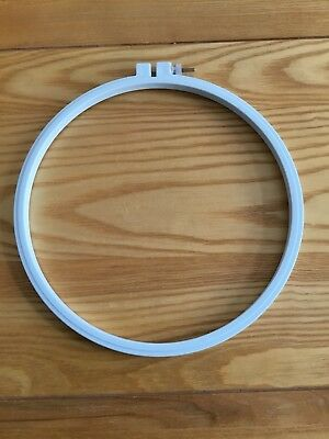"Cross Stitch Embroidery Hoop 20cm/ 8"" Blue Plastic"