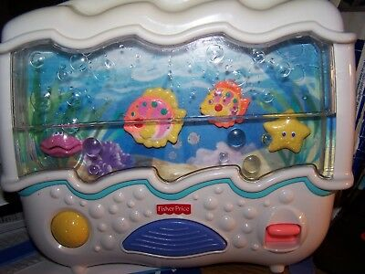 Fisher Price Ocean Wonders Aquarium Baby Crib Soother Musical Mobile Fish Tested