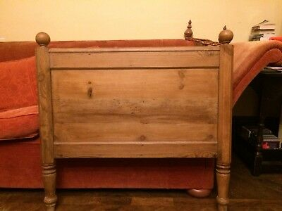 Victorian Pine Bed Head Headboard Single size Waxed Antique