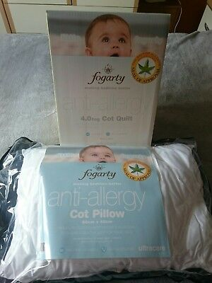 BNIB Little Fogarty Anti Allergy Cot Quilt And Pillow