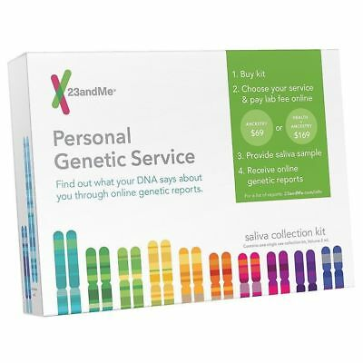 23 and Me Personal Genetic Service DNA Saliva Collection Kit only