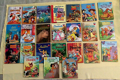 Disney Wonderful World of Reading Book Lot 24 Children Hardcover Picture Books