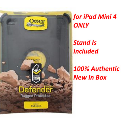 NEW Authentic OtterBox Defender Series Cover Case w/Stand For iPad Mini 4 ONLY