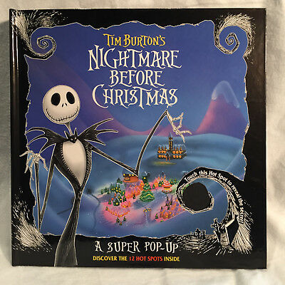 Nightmare Before Christmas POP-UP BOOK – 1993 – Unused -- Near Mint to Mint