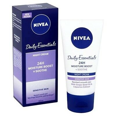 Nivea Daily Essentials Night Cream For Sensitive Skin 50Ml - Brand New In Box