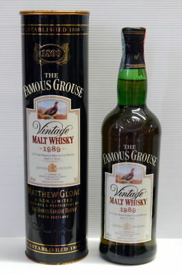 Whisky The Famous Grouse Vintage Malt Whisky 1989 Aged 12 Years