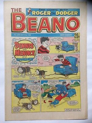 DC Thompson THE BEANO Comic. Issue 2392. May 21st 1988. **Free UK Postage**