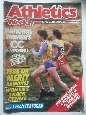 ATHLETICS WEEKLY Magazine. February 21st 1987. Womens Cross Country Championship