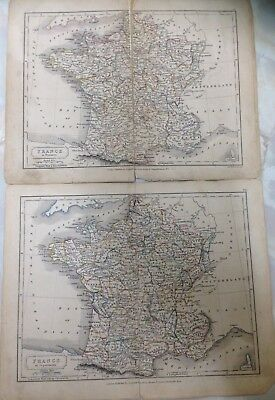 Antique Maps Of France. Dated 1861. Measures 21cm x 26cm. (IH24)