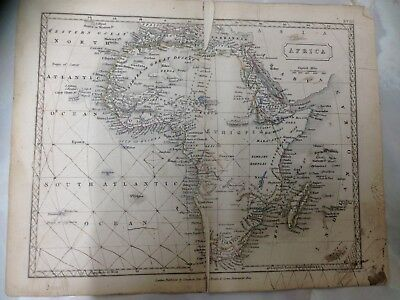 Antique Map Of Africa. Dated 1861. Measures 21cm x 26cm. (IH25)