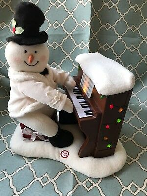 Hallmark Animated Piano Playing Snowman ⛄️ Plays 3 Songs!