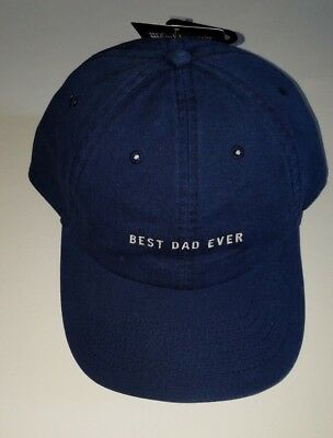 Mens American Classic Wembley Navy Blue Best Dad Ever Ball Cap Hat One Size
