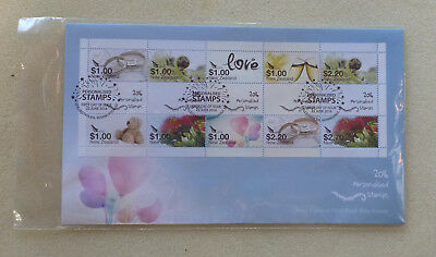 2016 New Zealand Personalised Stamp  Strip Of 10 Stamps Fdc First Day Cover
