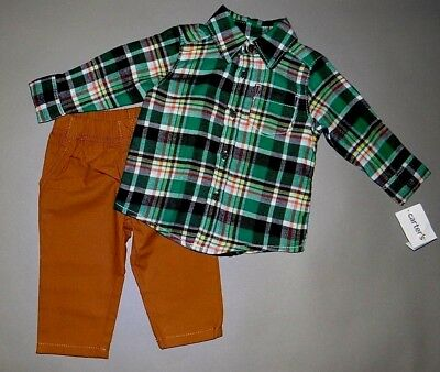 Baby boy clothes, 4T, Carter's plaid flannel shirt/matching pants/SEE DETAILS!!!